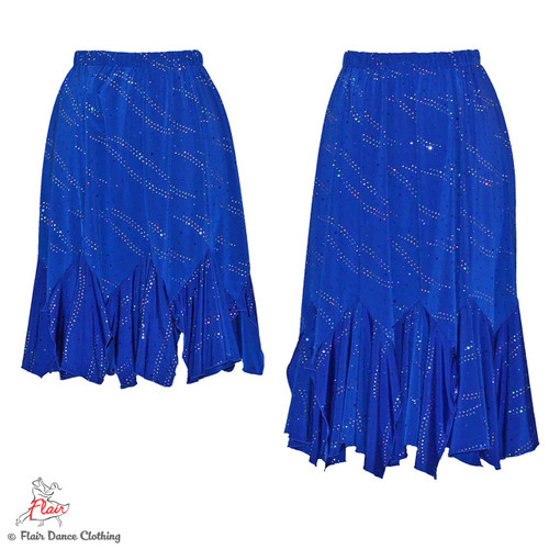 Royal Blue with Sequins Tango Skirt