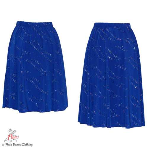 Royal Blue with Sequins Ronde Skirt