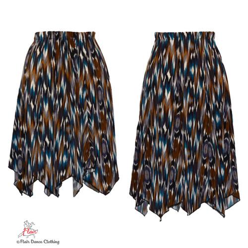 Tribal Ikat Hanky Hem Skirt