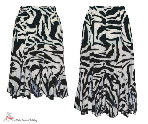 Classic Black and White Tango Skirt