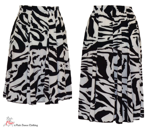 Classic Black and White Ronde Skirt