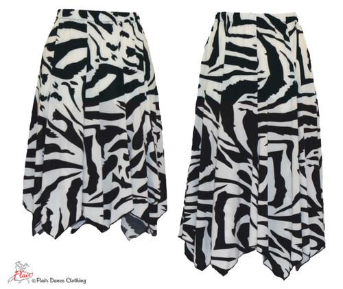 Classic Black and White Hanky Hem Skirt