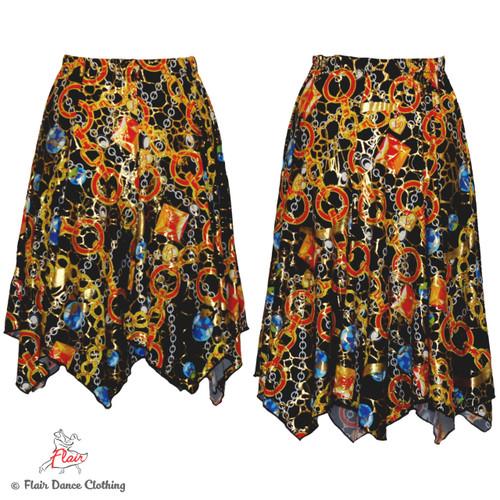 Gems and Chains Hanky Hem Skirt