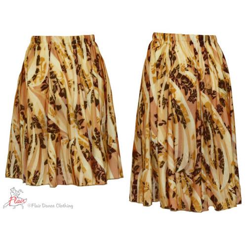 Sheer Earthtone Ronde Skirt