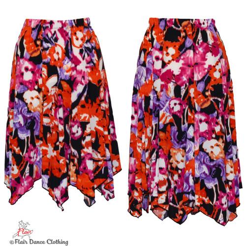 Fruit Punch Hanky Hem Skirt
