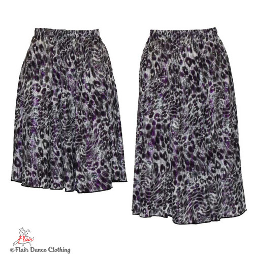 Grey Cheetah with Purple Foil Ronde Skirt