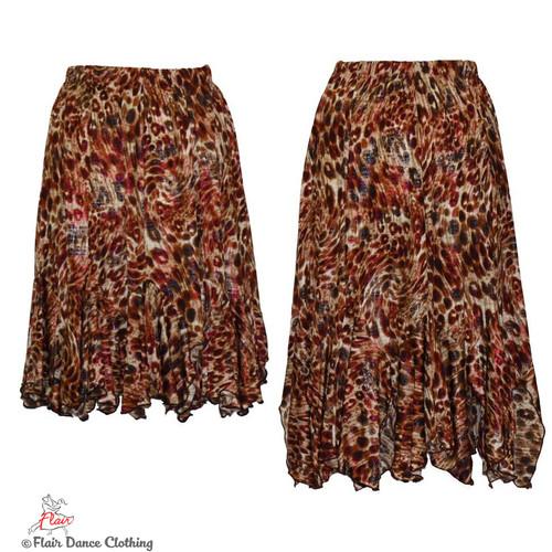 Brown Cheetah with Raspberry Foil Tango Skirt