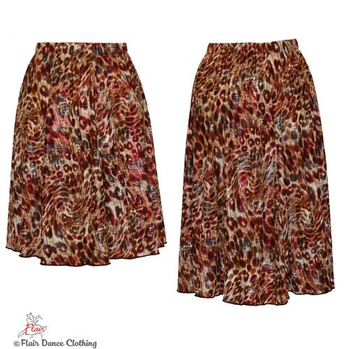 Brown Cheetah with Raspberry Foil Ronde Skirt