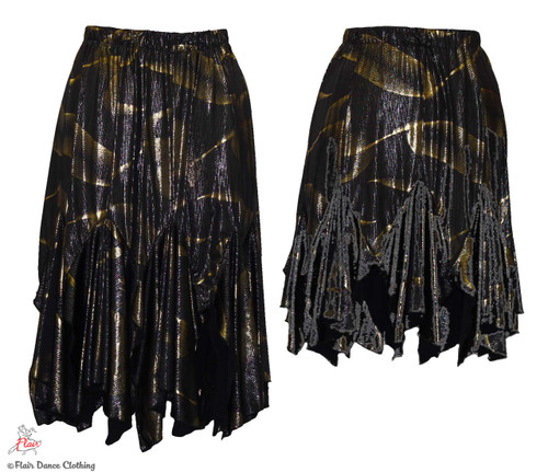 Silver and Gold Tango Skirt
