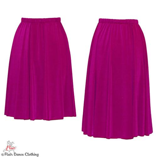Magenta - Solid Ronde Skirt