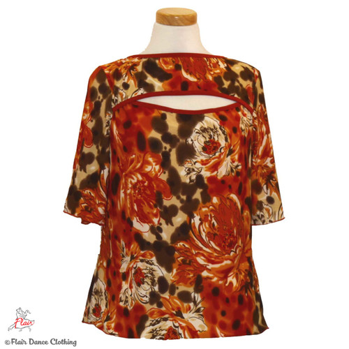Rust Floral Blouses