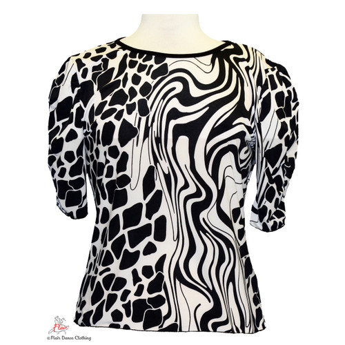 Mashed Black and White Blouses