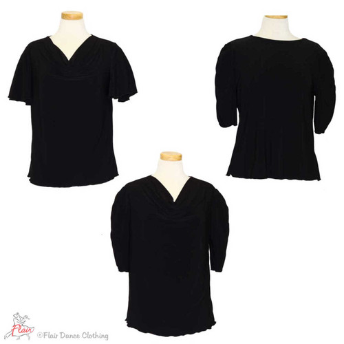 Black - solid Blouses