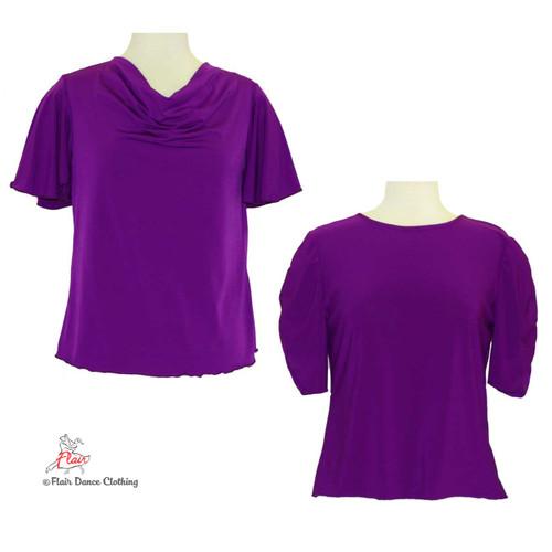 Purple - solid Blouses