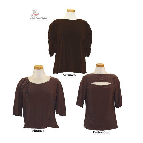 Brown - solid Blouses