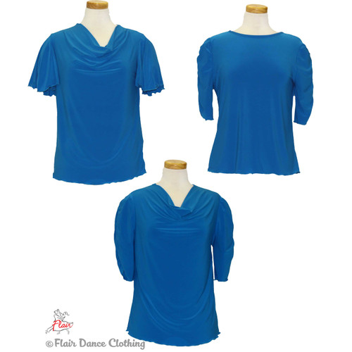 Turquoise - solid Blouses