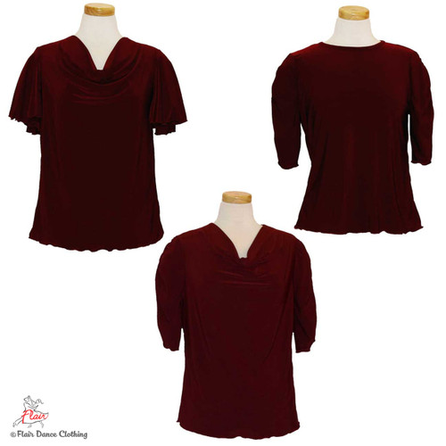 Burgundy - solid Blouses