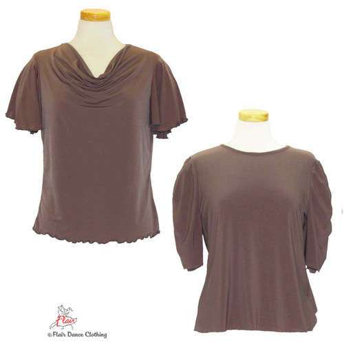Taupe - solid Blouses