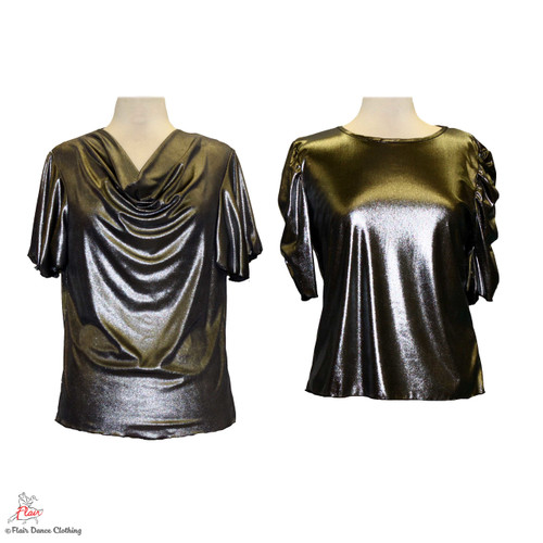 Metallic Silver - solid Blouses