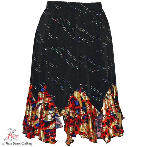 Black with Sequins/Wild Child Tango Skirt