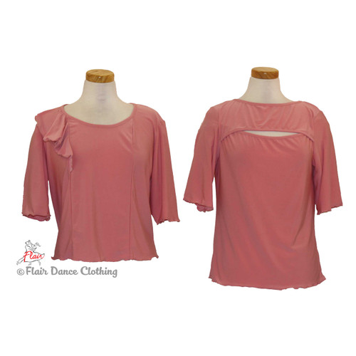 Soft Pink - Peek-a-Boo & Flouncy Blouses