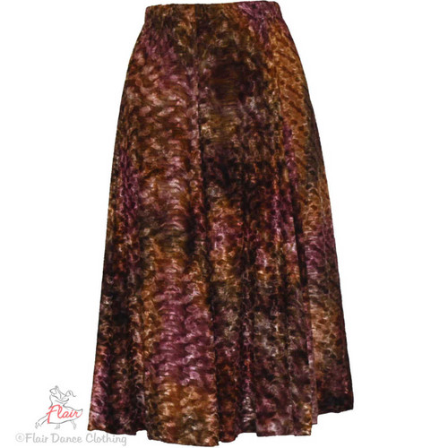Mauve Brown Panne Ronde Skirts