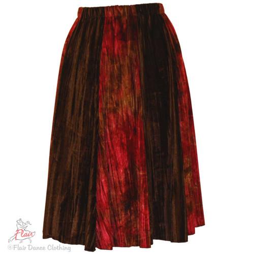 Raspberry Brown Panne Ronde Skirts