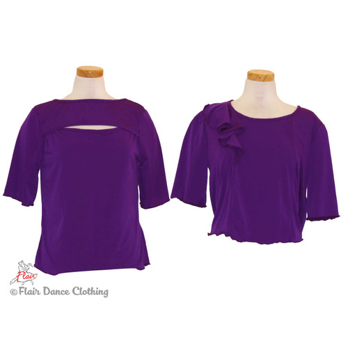 Purple - Peek-A-Boo & Flouncy  Blouses