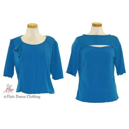 Turquoise - Peek-A-Boo & Flouncy  Blouses