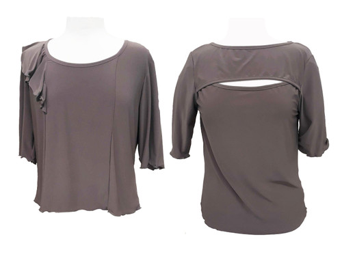 Floucy and Peek-a-boo blouses shown side by side for style comparison
