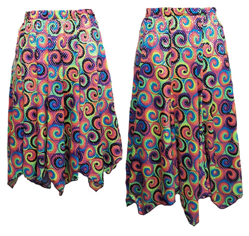 Hanky Hem skirt duo shown for length comparison
