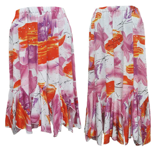 Tango hem skirts shown side by side for length comparison