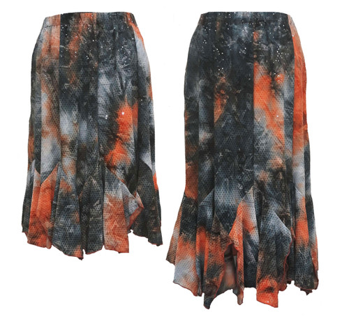 Tango skirts side by side for length comparison