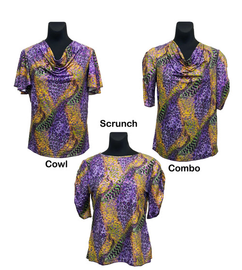 Blouse styles shown side by side for comparison