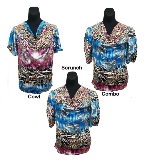 Blouses shown side by side for style comparison