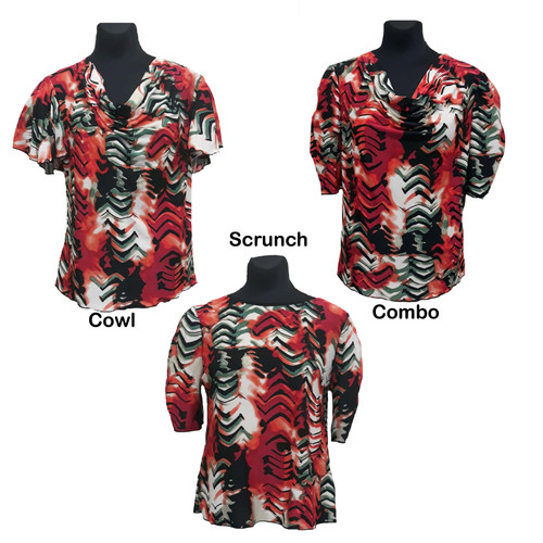 Blouses styles shown side by side for comparison