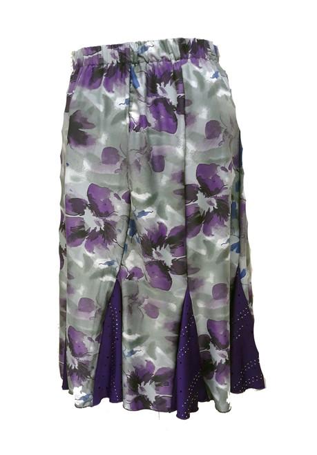 Grey w/purple roses Lindy Skirts