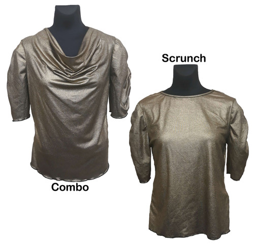 Blouses shown together for style comparison