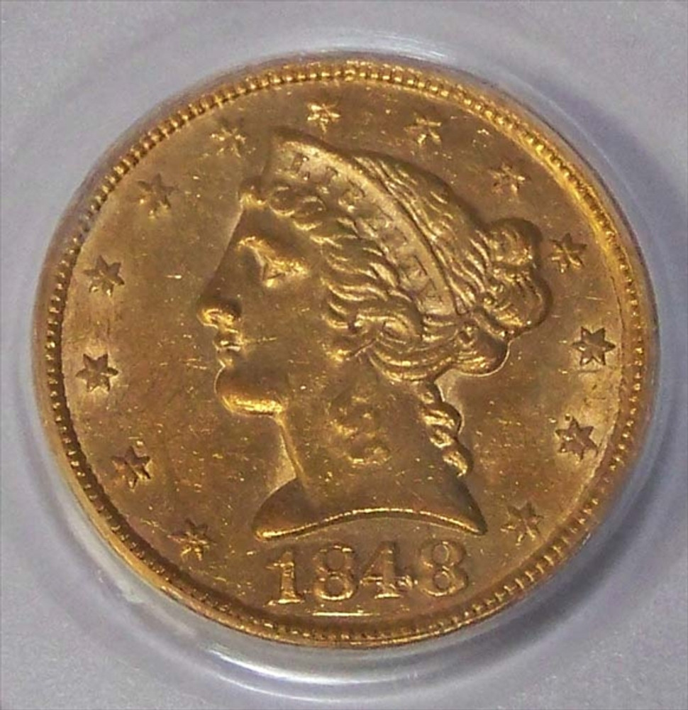Almost Uncirculated (AU) $5 Liberty Gold Coin