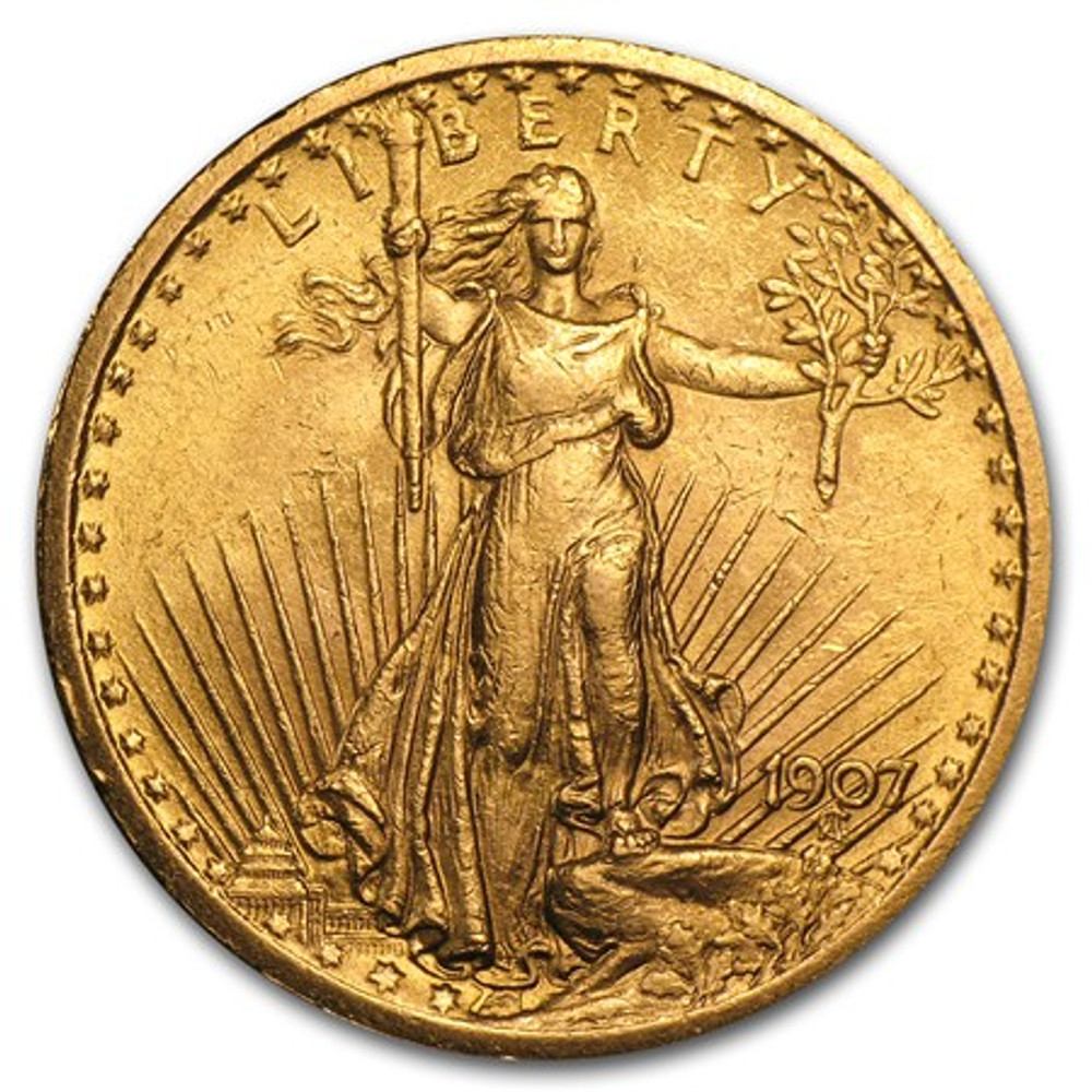 Almost Uncirculated (AU) $20 St. Gaudens Gold Coin