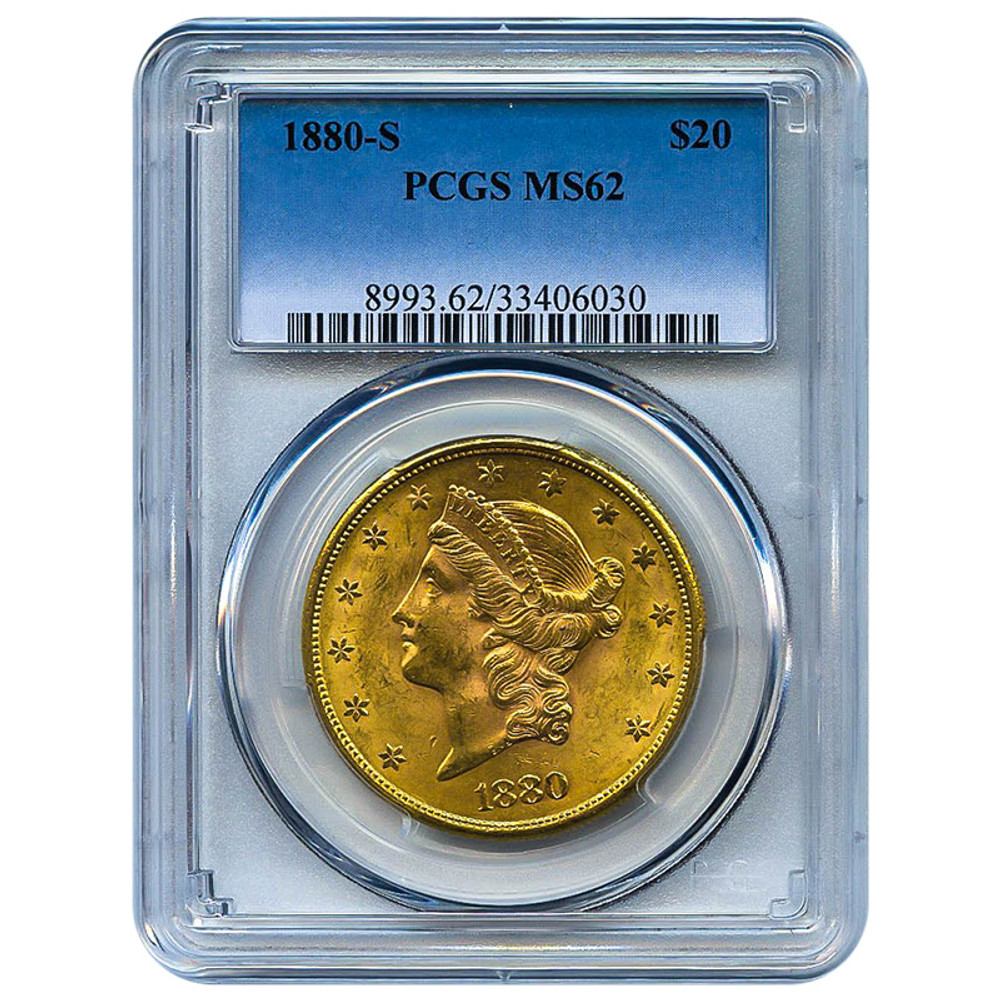NGC/PCGS MS62 $20 Liberty Gold Coin