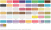 PearlEx Powder Pigment Colour Chart