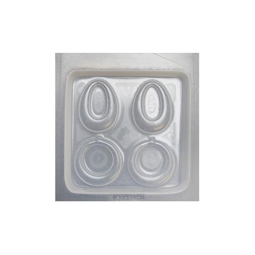 Resin mould - Earrings - Oval - 2 in 1