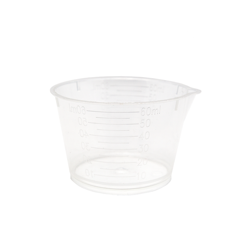 Resin measuring cup 60ml with spout.