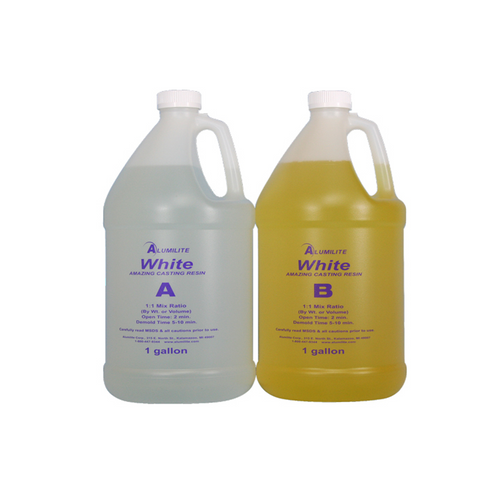 Alumilite Amazing Opaque White Casting Resin - 7.5 Litres / 2 US Gallons