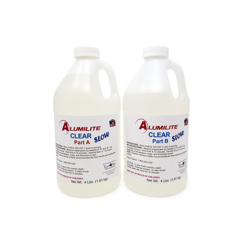 Alumilite CLEAR (SLOW) Resin - Medium - 8lbs / 3.36kg