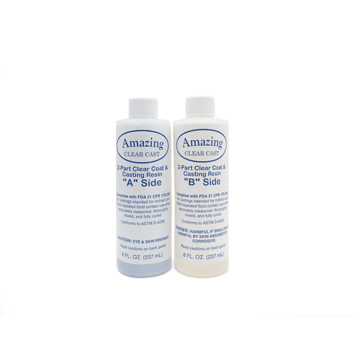 Alumilite Amazing Clear Cast - 470ml | Epoxy Resin | House of Resin  The 16fl oz kit consists 2 x 8fl oz bottles (one part A and one part B) giving a total of 16 fl. oz.