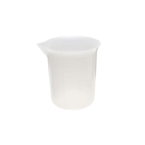 Silicone measuring jug for resin.