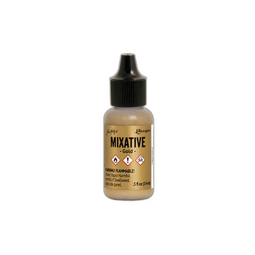 Alcohol Ink Metallic Mixative - Gold - 14ml