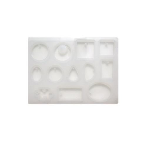 Silicone Resin Mould - Multi Pendants 12 in 1